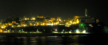 """...[Jonah] went down to Joppa, where he found a ship..."" Jonah 1:3. Joppa, Israel, as seen from Tel Aviv in 2007 on a clear night."